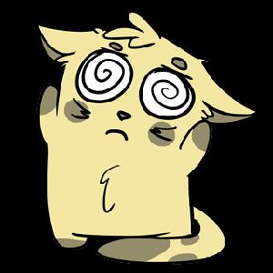 Emoji World: Sammy The Confused Cat messages sticker-6