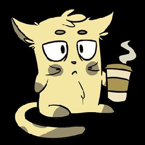 Emoji World: Sammy The Confused Cat messages sticker-1
