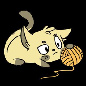 Emoji World: Sammy The Confused Cat messages sticker-3