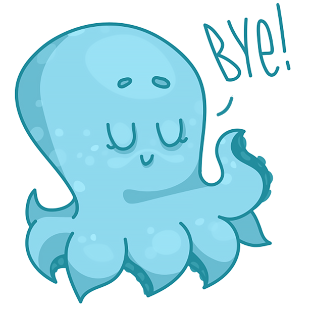 Amazing Octopus messages sticker-1