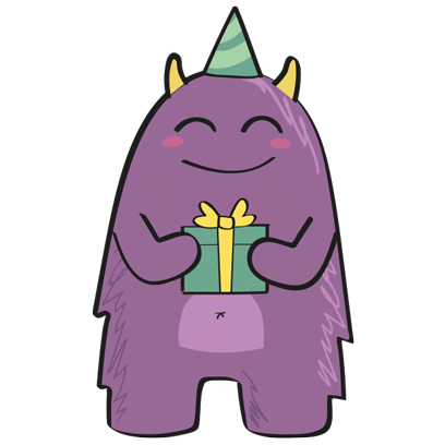 Purple Derp – Monster Stickers messages sticker-11