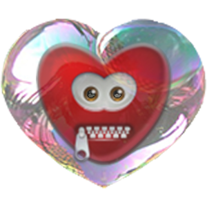 Bubble Hearts messages sticker-1
