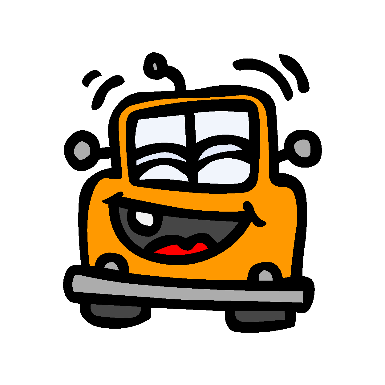 Car Smileys Stickers messages sticker-0