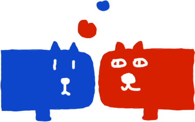 Balloon Blue Dog and Red Cat Sticker messages sticker-11