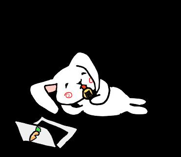 ゆるうさ messages sticker-9