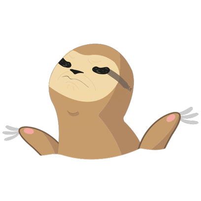 Andy the Sloth - Lazy Stickers messages sticker-3