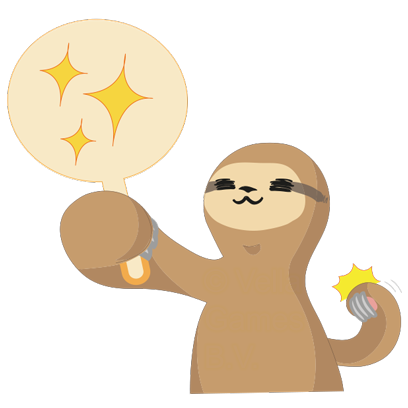 Andy the Sloth - Lazy Stickers messages sticker-6