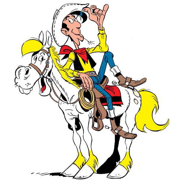Lucky Luke Stickers messages sticker-0