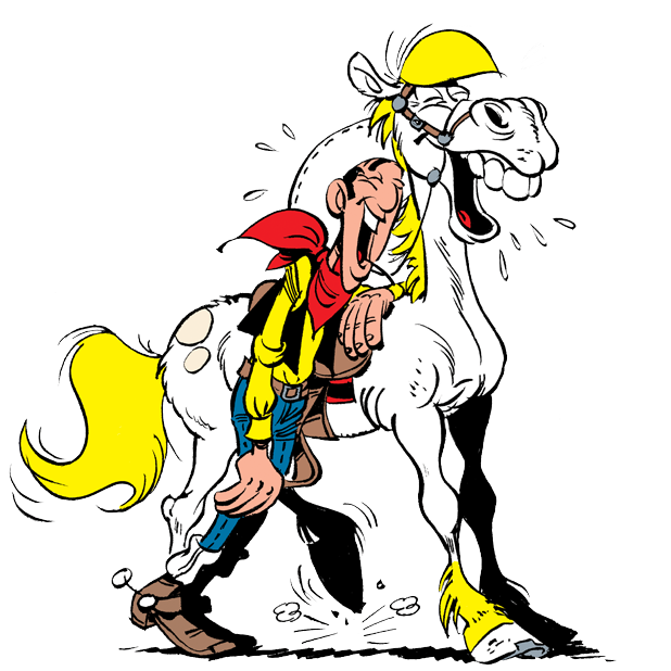 Lucky Luke Stickers messages sticker-1