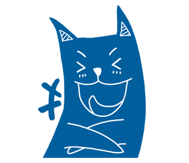 Blue Cat Stickers messages sticker-0