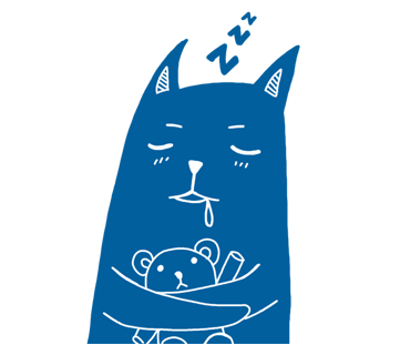 Blue Cat Stickers messages sticker-10