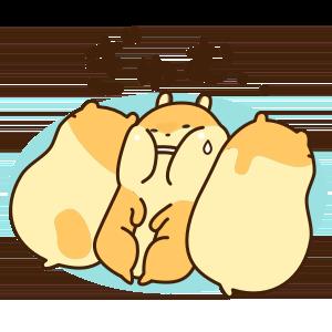 Petit Hamster messages sticker-9