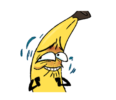 Awkward Banana messages sticker-11
