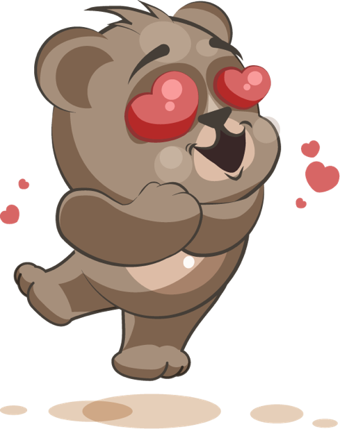Bear - Stickers for iMessage messages sticker-3