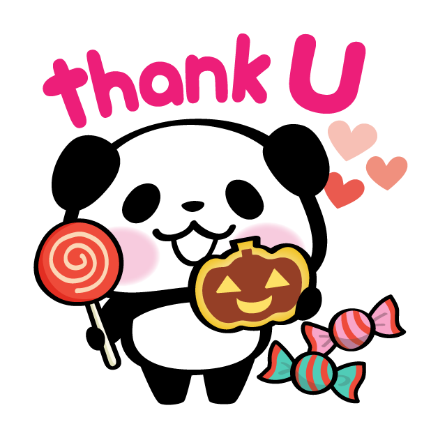 Pandaaa!!! Halloween Stickers messages sticker-7