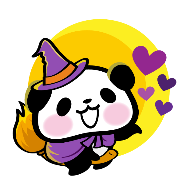 Pandaaa!!! Halloween Stickers messages sticker-1