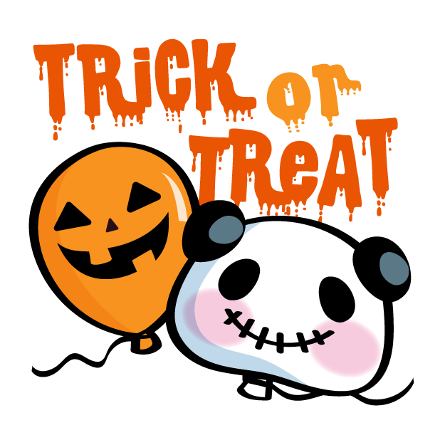 Pandaaa!!! Halloween Stickers messages sticker-4