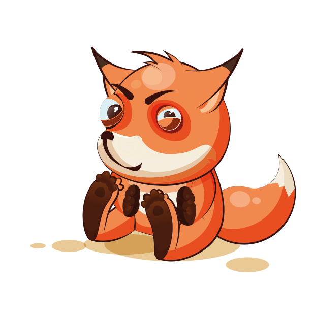 The Happiest Fox messages sticker-1