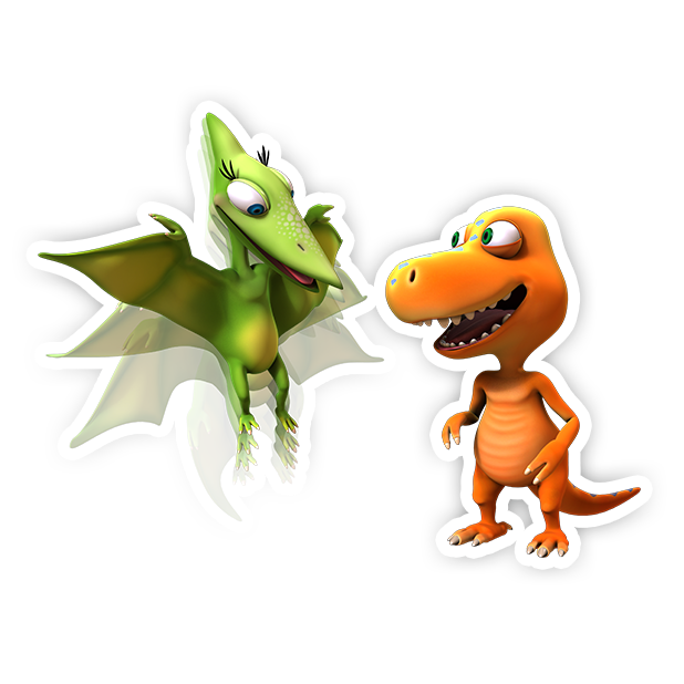 Dinosaur Train: Paint and Match messages sticker-7