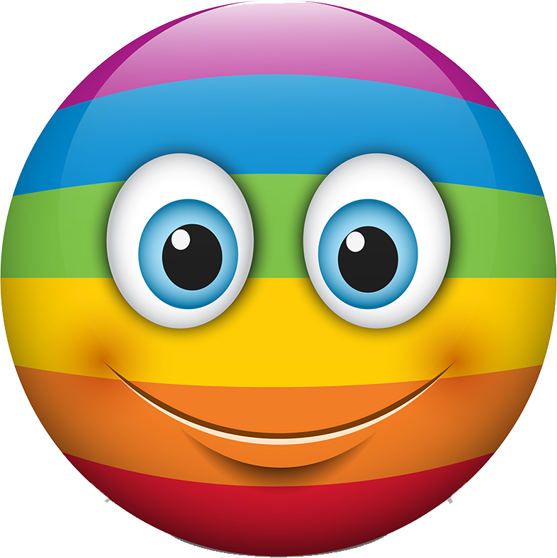 Rainbow Smileys Stickers messages sticker-0