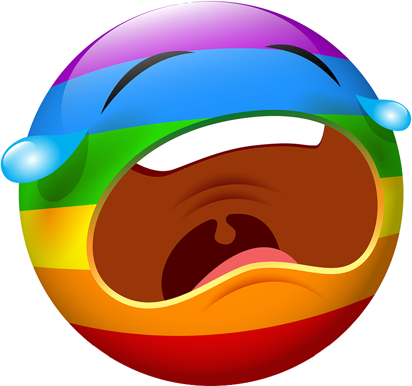Rainbow Smileys Stickers messages sticker-11