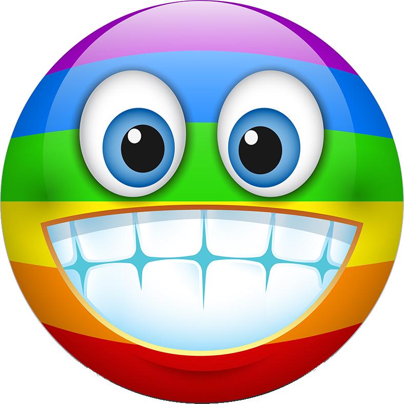 Rainbow Smileys Stickers messages sticker-8