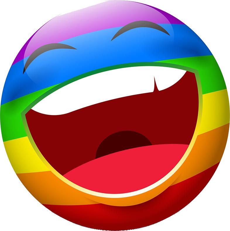 Rainbow Smileys Stickers messages sticker-1