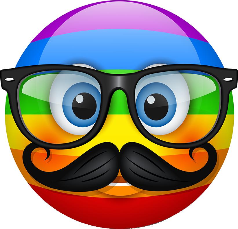 Rainbow Smileys Stickers messages sticker-6