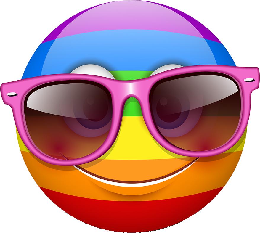 Rainbow Smileys Stickers messages sticker-5