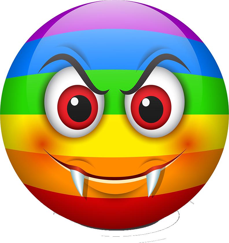 Rainbow Smileys Stickers messages sticker-9