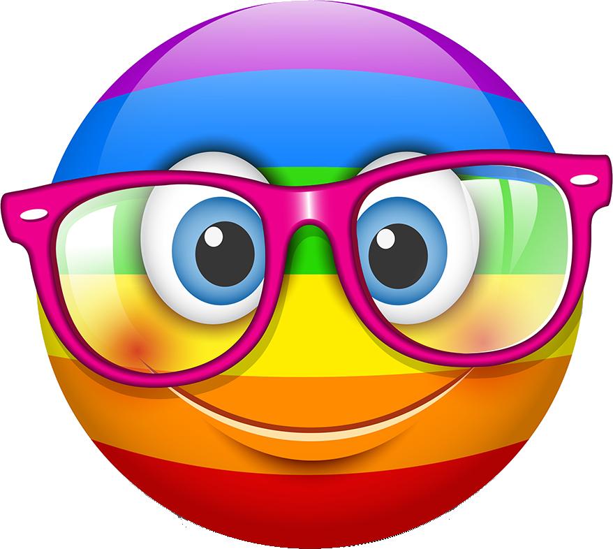 Rainbow Smileys Stickers messages sticker-4