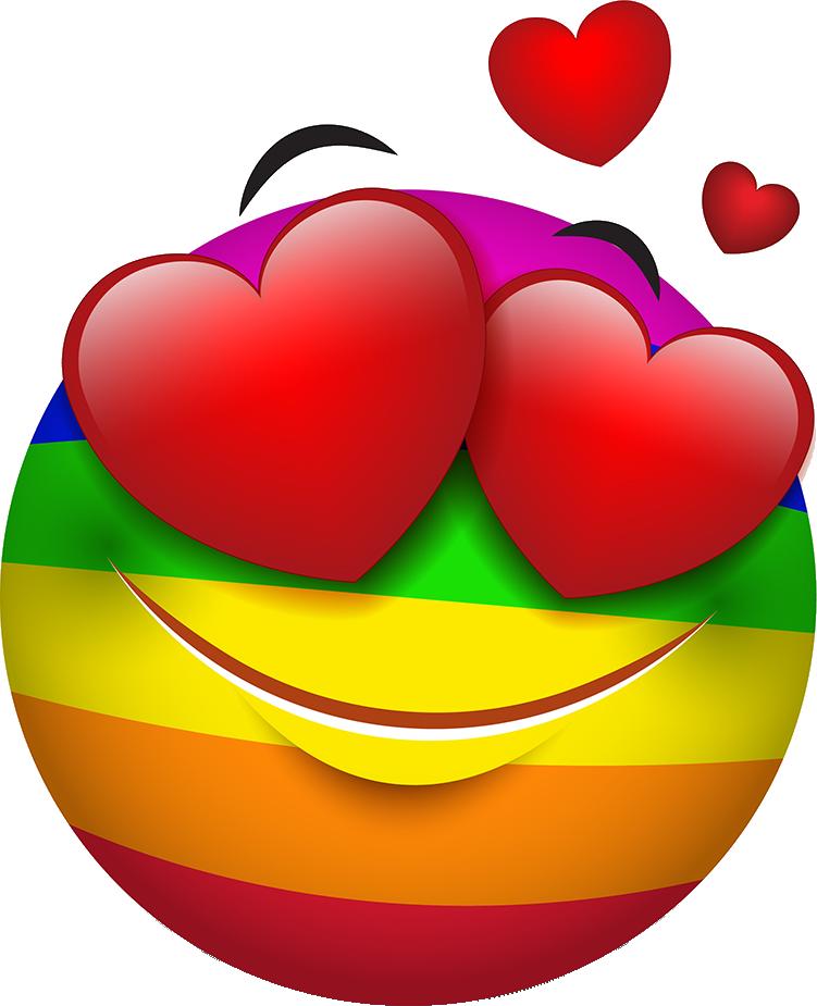 Rainbow Smileys Stickers messages sticker-3