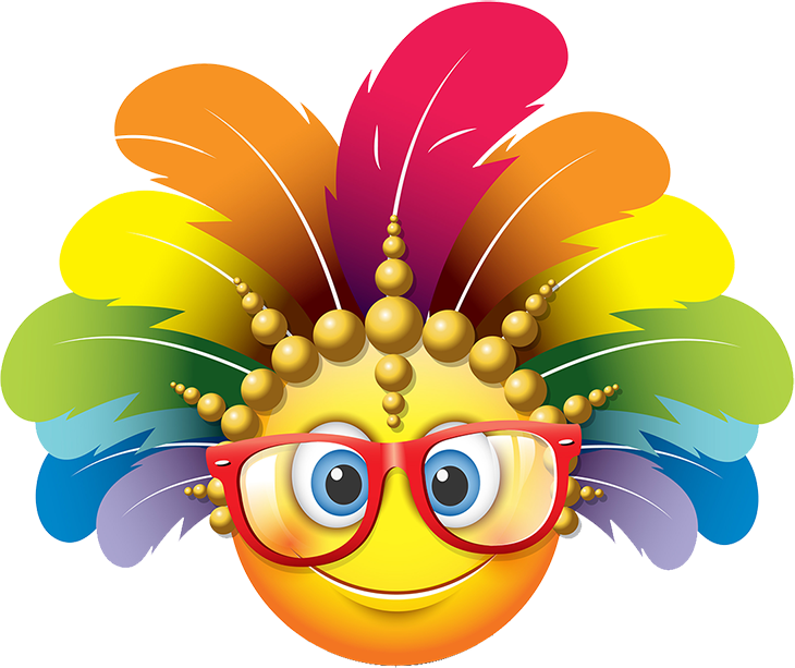 Carnival Smileys Stickers messages sticker-6