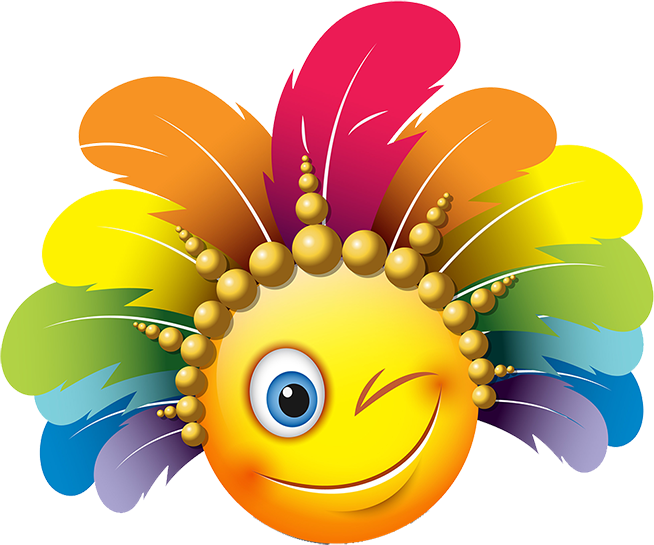 Carnival Smileys Stickers messages sticker-3