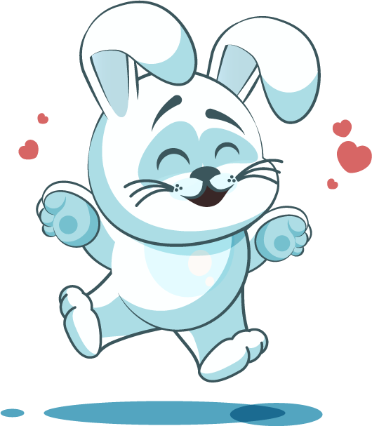 White Leveret - Stickers for iMessage messages sticker-9