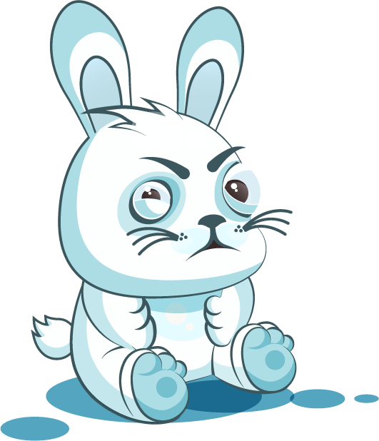 White Leveret - Stickers for iMessage messages sticker-8