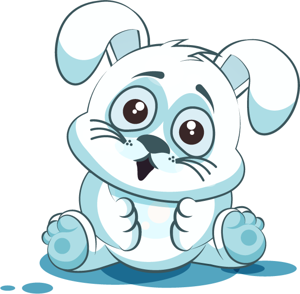 White Leveret - Stickers for iMessage messages sticker-6