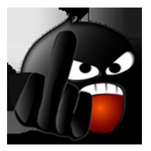 Black Emoji Sticker Pack for iMessage messages sticker-7