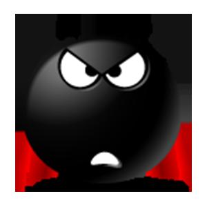 Black Emoji Sticker Pack for iMessage messages sticker-9