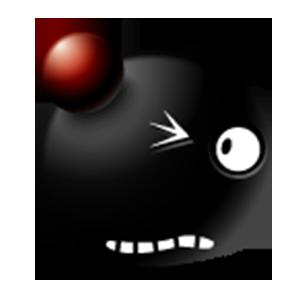Black Emoji Sticker Pack for iMessage messages sticker-3