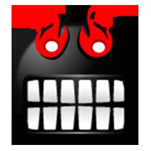 Black Emoji Sticker Pack for iMessage messages sticker-1