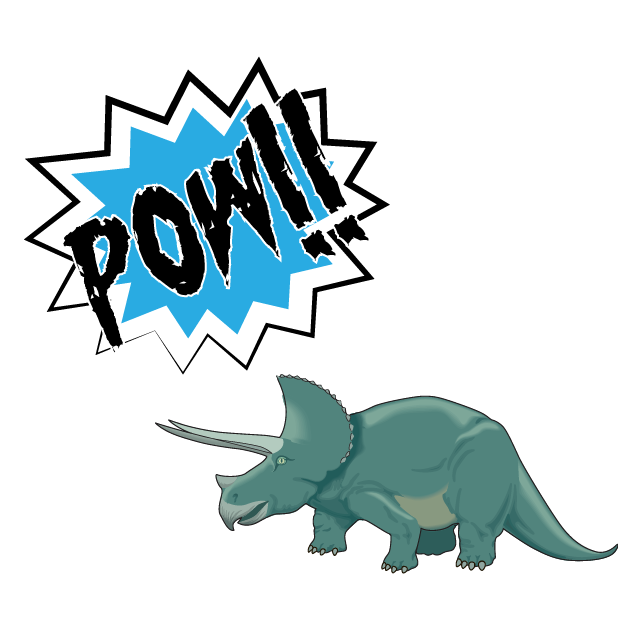 Battle Text-Attack of the Dinosaurs! messages sticker-1