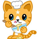 Cat Stickers Pack for iMessage messages sticker-3