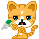 Cat Stickers Pack for iMessage messages sticker-9