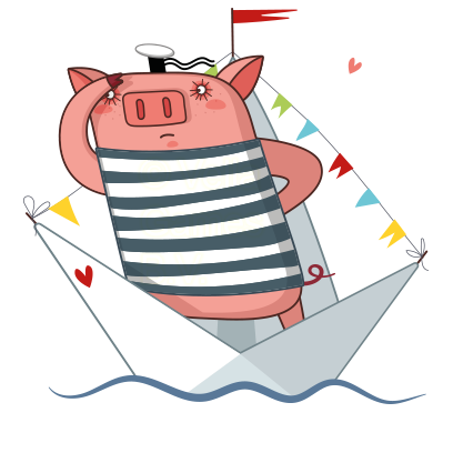 Cute Pig - Stickers for iMessage messages sticker-4