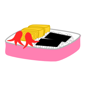 Japanese Food Sticker 日本の晩御飯-夏- messages sticker-1