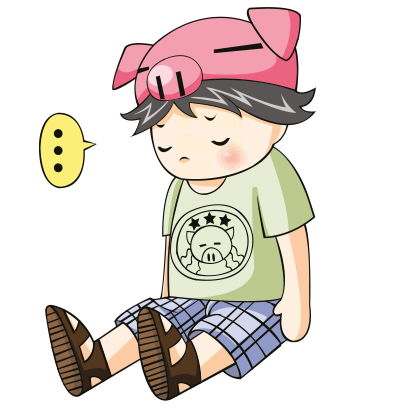 Piggy Boy – Chibi Character messages sticker-7