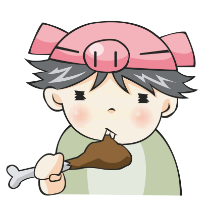 Piggy Boy – Chibi Character messages sticker-5