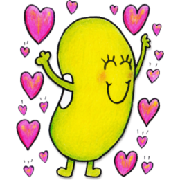 Just Bean Happy: #1 English and Japanese stickers messages sticker-2