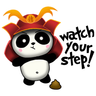 SAMURAI PANDA 2 (Animated) stickers by CandyA$$ messages sticker-8